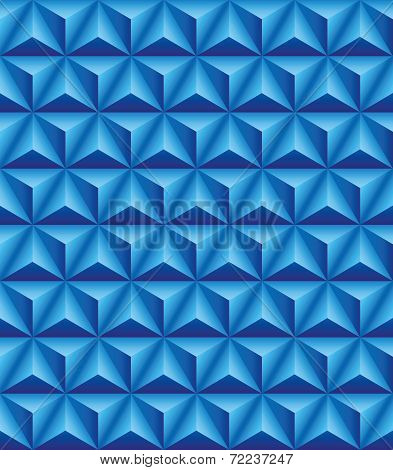 Trihedral Pyramid Blue Seamless Texture