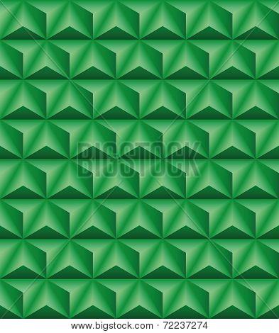 Trihedral Pyramid Green Seamless Texture