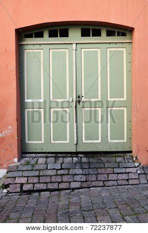 Old Vintage Doors In Town Tallinn