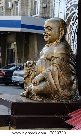 Buddha Statue In The City