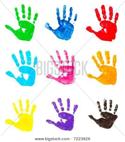 Colorful Hand Prints