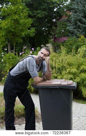 Man With Trashcan