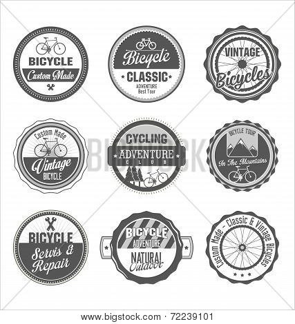 Bicycle retro vintage badge collection