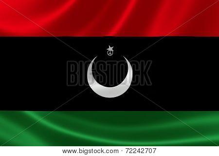 Close-up Of Libya's Flag
