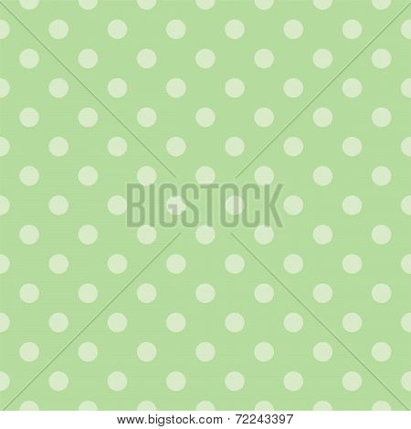 Tile vector pattern with light green polka dots on a mint green background