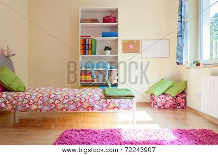 Bright Yellow Room For Girl