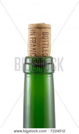 """Bottleneck And Cork With Inscription """"bottled In France"""""""