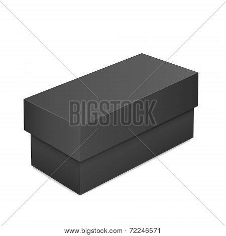 Black Blank Paper Box