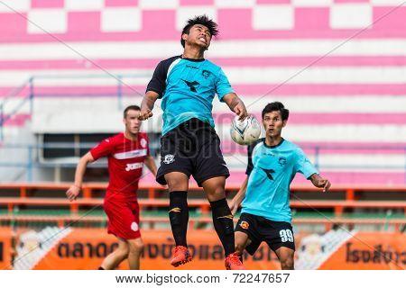 Sisaket Thailand-september 17: Unidentified Player Of Sisaket Utd. In Action During Unofficial Frien