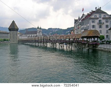 Bridge in Lucerne city