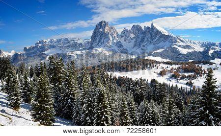 Seiser Alm In Winter