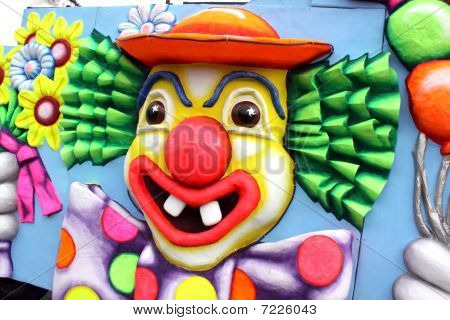Carnival Float Clown face