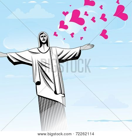 Brazil Love God Vector