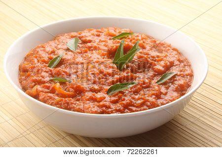 Mutton Keema - Minced lamb curry .