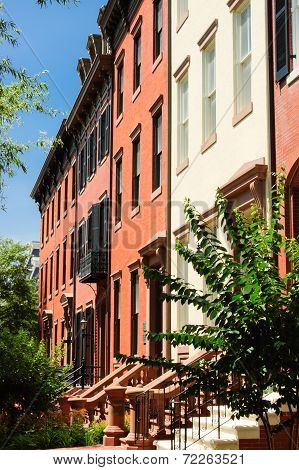 Row Houses Of red Bricks