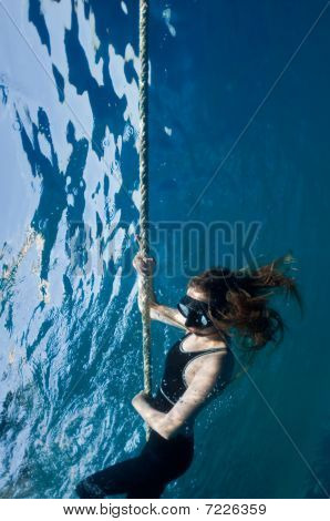Free Diving Girl