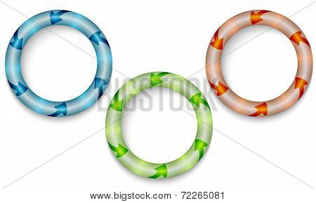 Three Frames With Color Backlight
