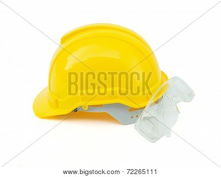 Construction Safety Helmet And Glasses