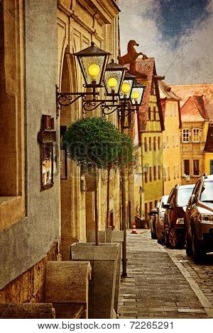Old Street Of European Town