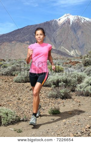 Cross-country Trail Runner - Woman Running