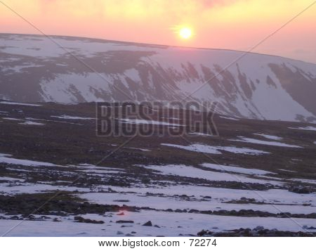 Cairngorm Sunset In Winter