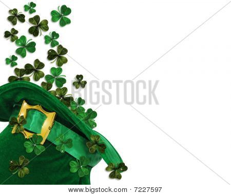 St Patricks Day shamrocks hat