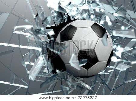 Broken Glass 3D Soccer Ball