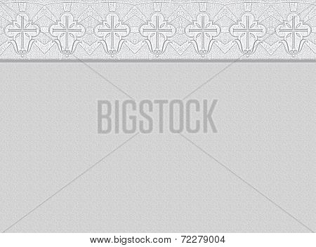 Mourning Background With Ornamental Border