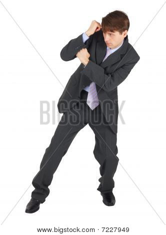 Business Blocking A Blow On White Background