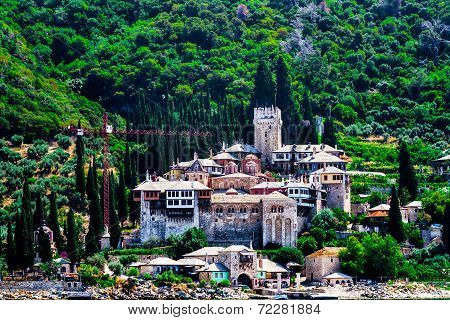 The Holy Monastery Of Docheiariou At Mount Athos Greece