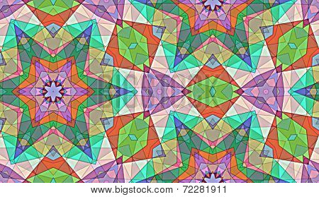 Background with varying patterns, shapes, sizes and colors - Repeatable seamless tiled background