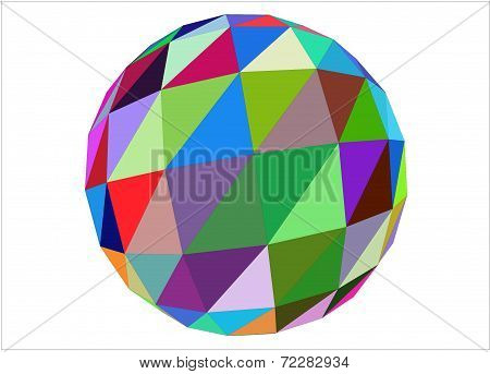 3D multicolored geometric sphere