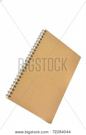 Ring Binder Book Or Notebook Isolated On White