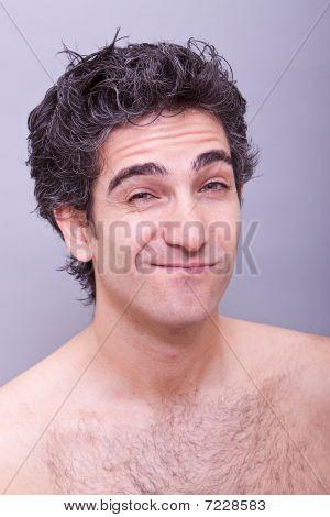Man With Suspicious Or Ignorant Facial Expression