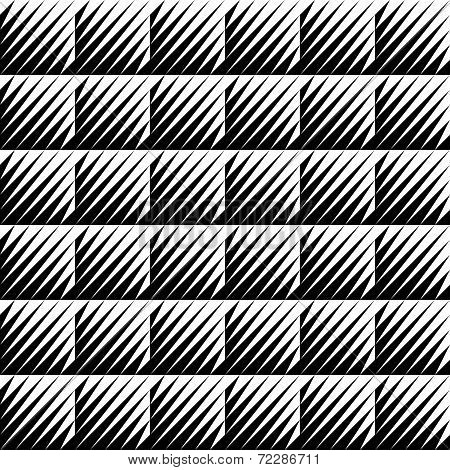 Black And White Jagged Edge Seamless Pattern