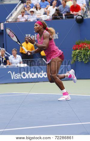Grand Slam champion Serena Williams during third round match at US Open 2014