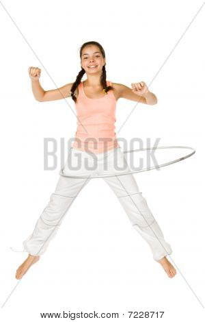 Teenager Girl With Hula Hoop