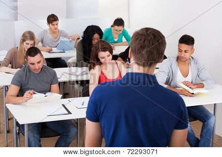 Teacher Teaching University Students