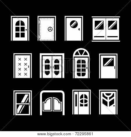 Set Icons Of Doors