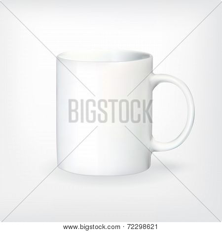 Realistic vector tea or coffee cup