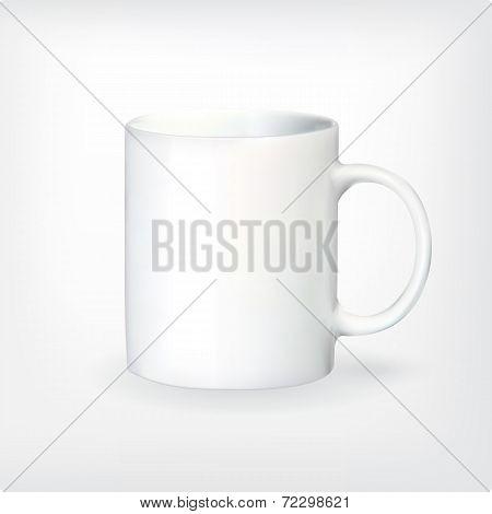 Realistic vector tea or coffee cup