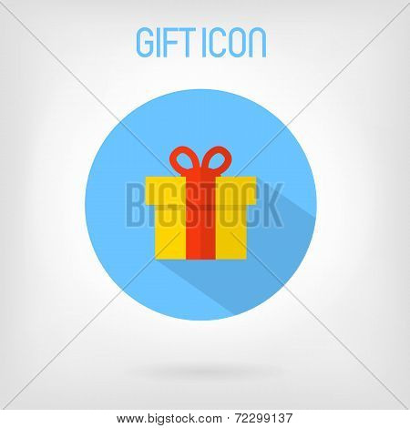 Gift flat styled icon