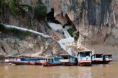 image of ou  - Pak Ou Cave buddhist temple in mountain near Luang Prabang Laos - JPG