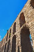 foto of aqueduct  - Aqueduct at Istanbul Turkey  - JPG