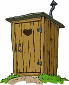 foto of outhouses  - Rural toilet on white background vector illustration - JPG