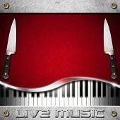 Постер, плакат: Live Music And Food Menu