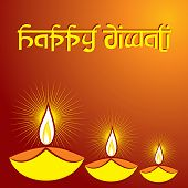 stock photo of diya  - Illustration of diwali greeting background with diya - JPG