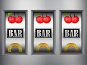 image of slot-machine  - Winner triple in slot machine - JPG