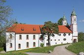 image of calvary  - historic monastery on calvary hill bad tolz germany - JPG