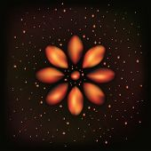 Постер, плакат: Fire flame flower or abstract space background